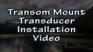 HawkEye® Video Short | Transom Mounting a Transducer on a Boat