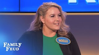 Steve Harvey meets Noelle and gets SCARED | Family Feud