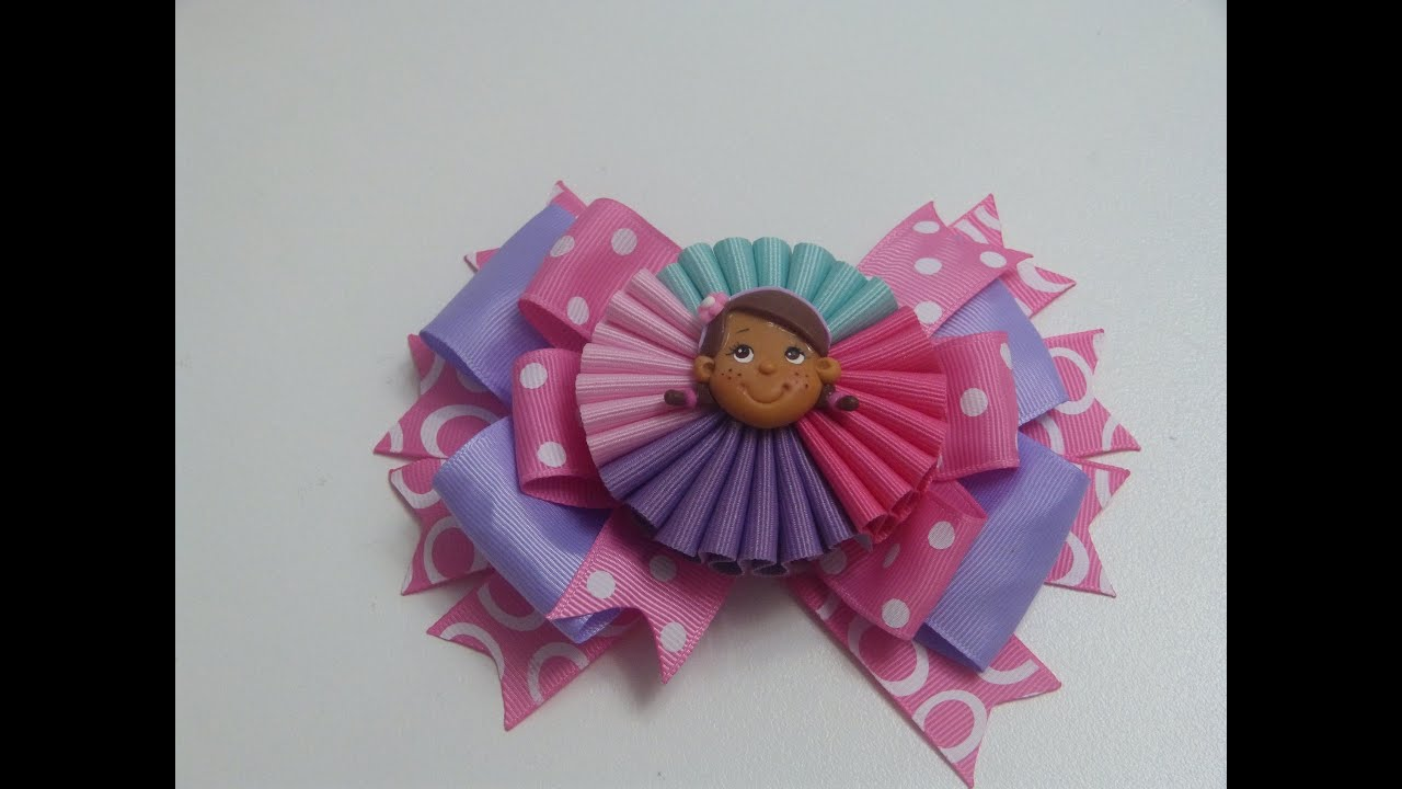 Como hacer lazo acorde n flores multicolores how to make a hair bow mo os f ciles youtube - Lazos con cintas ...