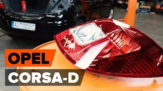 Piekare uzstādīšana OPEL CORSA D: bezmaksas video