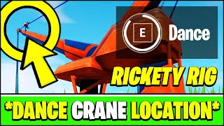 Dance ON TOP of the CRANE at RICKETY RIG LOCATION (Fortnite Season 3 Week 3 Challenge Locations)