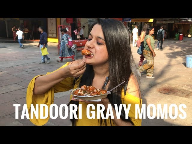 TANDOORI GRAVY MOMOS   PVR SAKET STREET FOOD