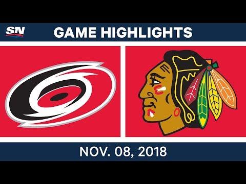 NHL Highlights | Hurricanes vs. Blackhawks – Nov. 8, 2018