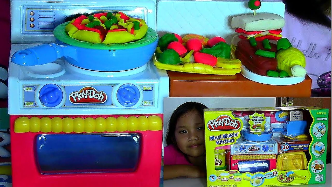 Play-Doh Meal Makin Kitchen Playset Make Play-Doh Foods Creations ...