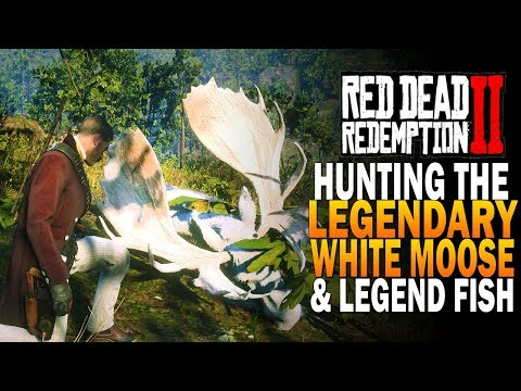 Hunting The Legendary Moose & Legendary Fishing! Red Dead Redemption 2 Legendary Animals [RDR2]