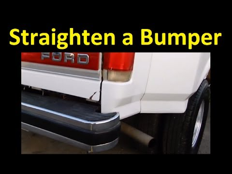 How To fix a Bumper ~ Repair Straighten Chrome / Metal Bent Video DIY Tutorial