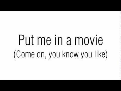 Lana Del Rey - Put Me In A Movie w/ lyrics on the screen!
