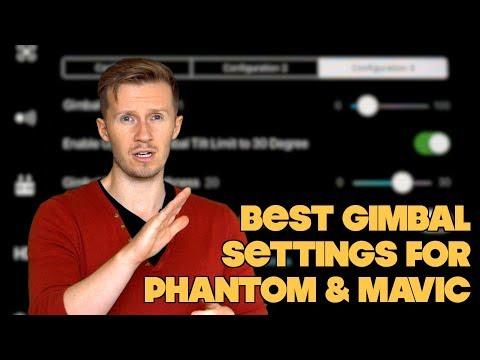 BEST DJI Phantom & Mavic Gimbal Settings For Filmmakers || TUTORIAL By Drone Film Guide