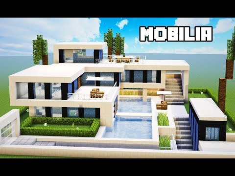 Minecraft Tutorial | Mobília da Mansão Ultra Moderna | MANYACRAFT