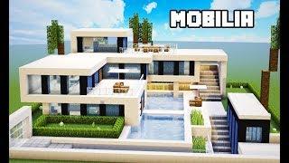 Minecraft Tutorial   Mobília da Mansão Ultra Moderna   MANYACRAFT