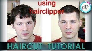 "Hair tutorial: Men's short haircut (Мужская стрижка под насадки ""Французская"")"