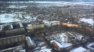 Ту-134. Посадка в Иркутске. Landing in Irkutsk(Посадка в Иркутске. Авиакомпания Ютэйр. Март 2011 года. Landing in Irkutsk., 2012-01-07T14:23:02.000Z)