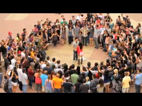 Cant Take My Eyes Off You Flash Mob Proposal Trang And Nam