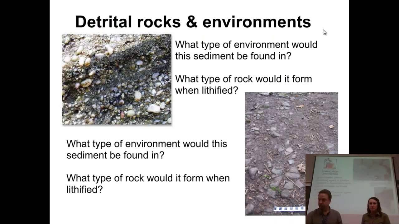 Detrital & chemical sedimentary rocks: definition & differences.