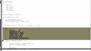 Урок 47. C++ Анимация ханойской башня в OpenGL