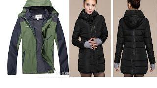 Посылки из Китая от 21.10.14 Мужская и женская куртки  Вскрытие, обзор, примерка