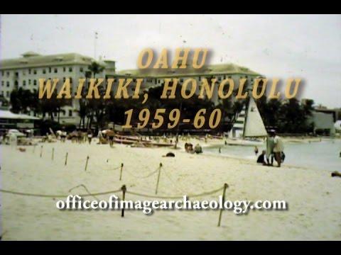 COLOR 16MM FILM, OAHU, HAWAII 1959-60, WAIKIKI BEACH, DOWNTOWN HONOLULU
