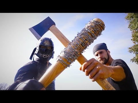Rick's Hatchet VS Lucille! The Walking Dead in REAL LIFE!