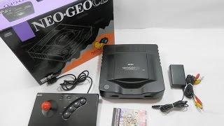 Neo Geo CD + Arcade Stick + Game