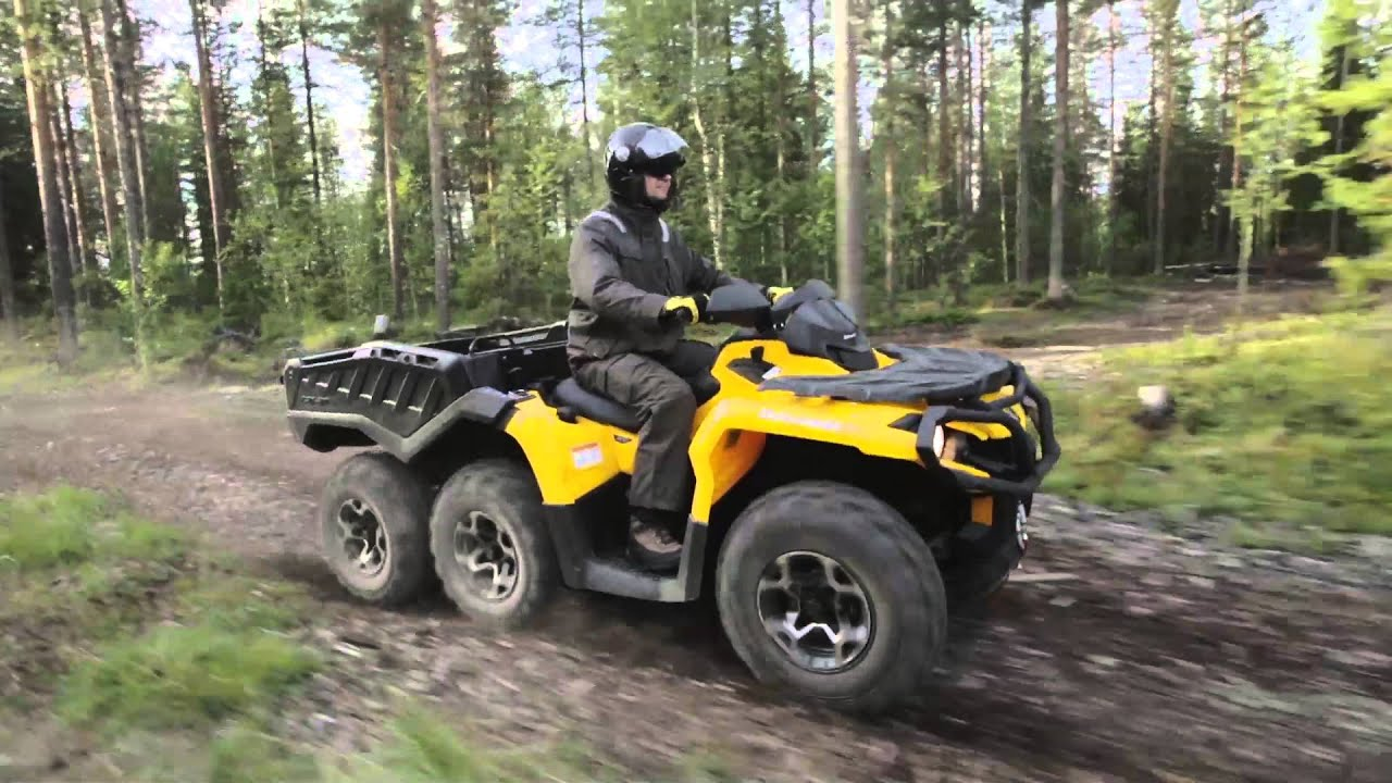 can am outlander 6x6 atv features 6 feel drive youtube. Black Bedroom Furniture Sets. Home Design Ideas