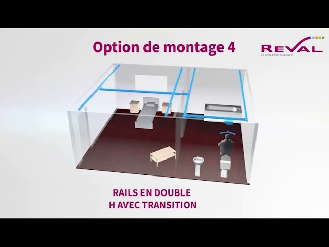 Montage rails double H 3D VF