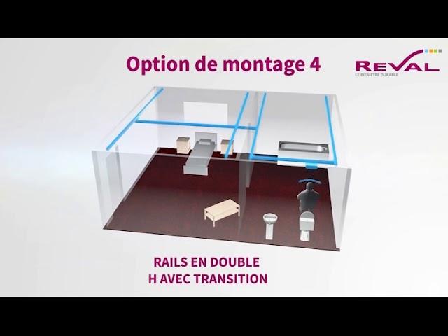Montage rails double H 3D VF
