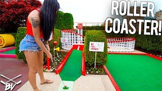 I\'VE NEVER SEEN A MINI GOLF COURSE LIKE THIS! - INSANE HOLES AND CRAZY SHOTS!