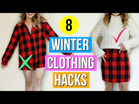 8 Winter Clothing Hacks EVERY Girl Must Know!