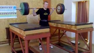 Lubos Kafonek 165kg behind neck jerk