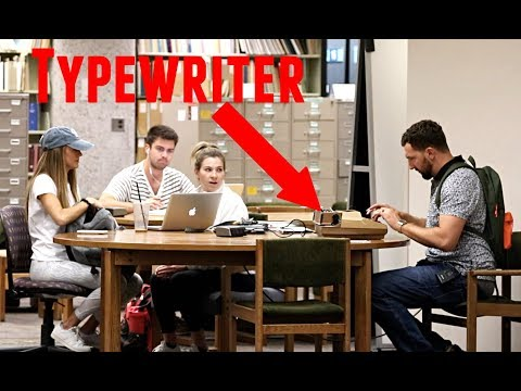 Typewriter in the Library Prank!