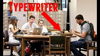 Typewriter in the Library Prank! thumbnail