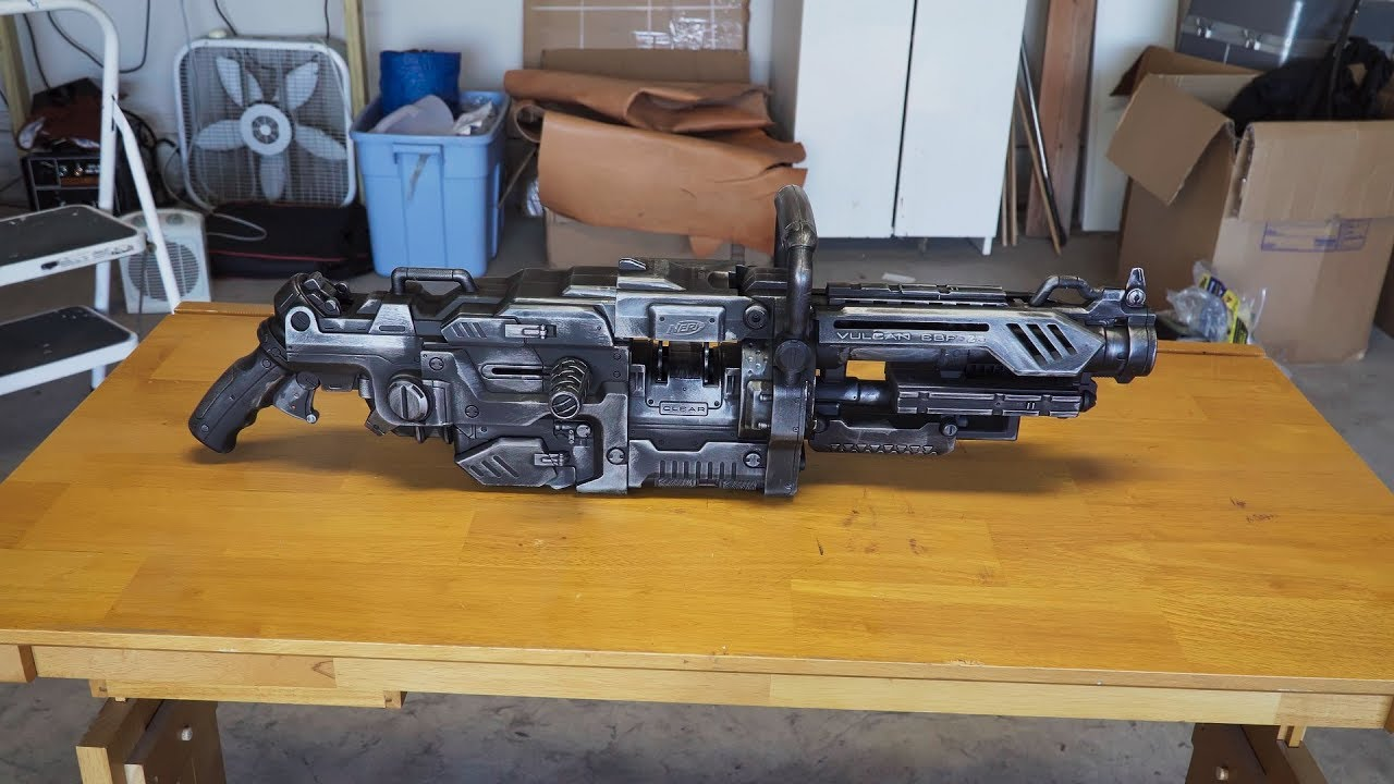 how to paint a nerf gun without taking it apart