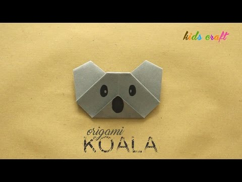 DIY: Origami Koala Face - Easy Kids Craft - Arts & Crafts