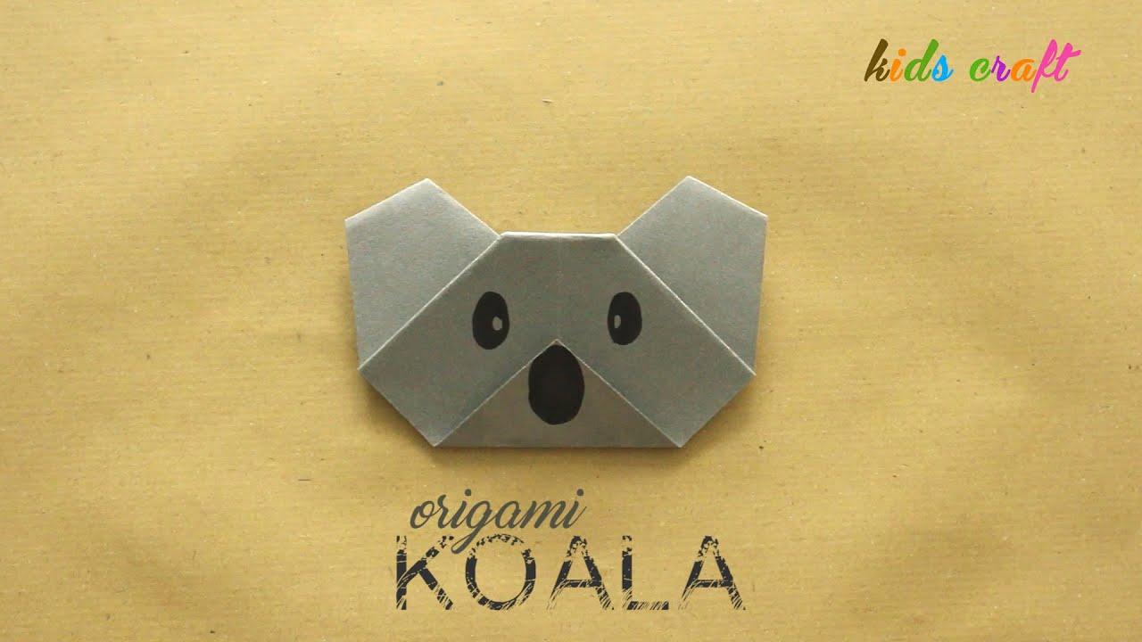 DIY Origami Koala Face