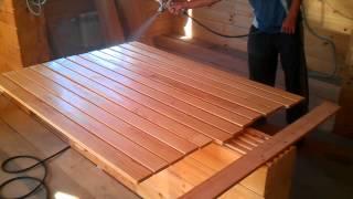Лакирование деревянной вагонки(, 2013-09-12T05:18:06.000Z)
