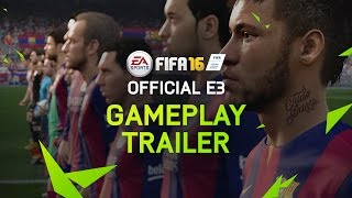 FIFA 16 Official E3 Gameplay Trailer - PS4, Xbox One, PC(Official #FIFA16 E3 gameplay trailer with Pelé. Play Beautiful. Pre-order: http://smarturl.it/g33y2l See the new features: http://smarturl.it/68kmq3 FIFA 16 will be ..., 2015-06-15T19:59:07.000Z)