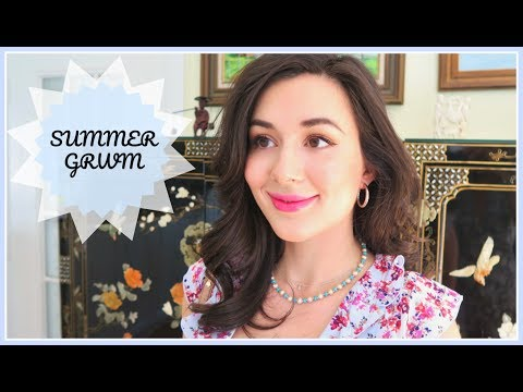 SUMMER GET READY WITH ME | LONG LASTING GLOWY MAKEUP