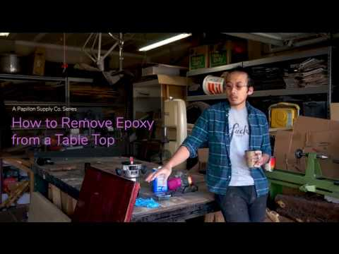How to Remove Epoxy from a Table Top