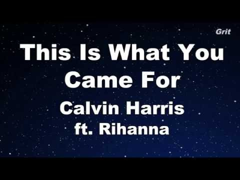 This is What You Came For ft. Rihanna - Calvin Harris Karaoke 【With Guide Melody】 Instrumental
