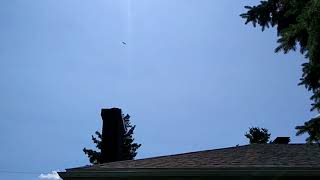 B-25J Maid in the Shade fly by over the house - Gatineau 20180812