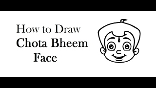 How to Draw Chota Bheem Cartoon Face drawing step by step