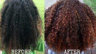 HOW TO: DYE AND HIGHLIGHT NATURAL HAIR USING DARK AND LOVELY
