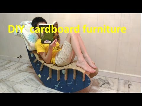 Real ♛ furniture ♛by using cardboard.This trick made my home look amazing. #  cardboard Lounge Chair