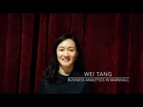 USC MS, Business Analytics Admissions Video – Wei Tang
