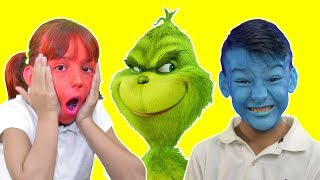 Pretend Play with Fun Inflatable Toys! Balloons Game with Grinch