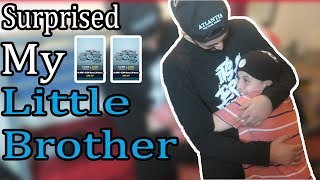 SURPRISING MY LITTLE BROTHER WITH FORTNITE V-BUCKS! HE GETS EMOTIONAL