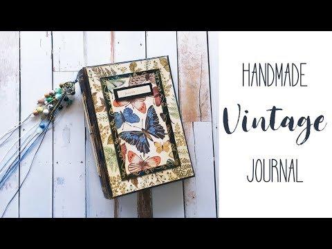 Handmade Vintage Journal | Junk Journal | Custom Made Book | Nature Themed | Fast Flip Through