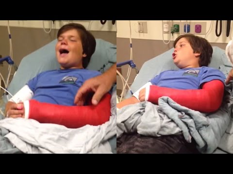Broken Arm Kid Is Hilarious On Pain Drugs | What's Trending Now