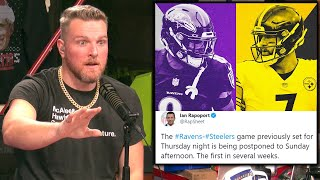 Pat McAfee Reacts To Steelers Ravens Thanksgiving Game Being Postponed