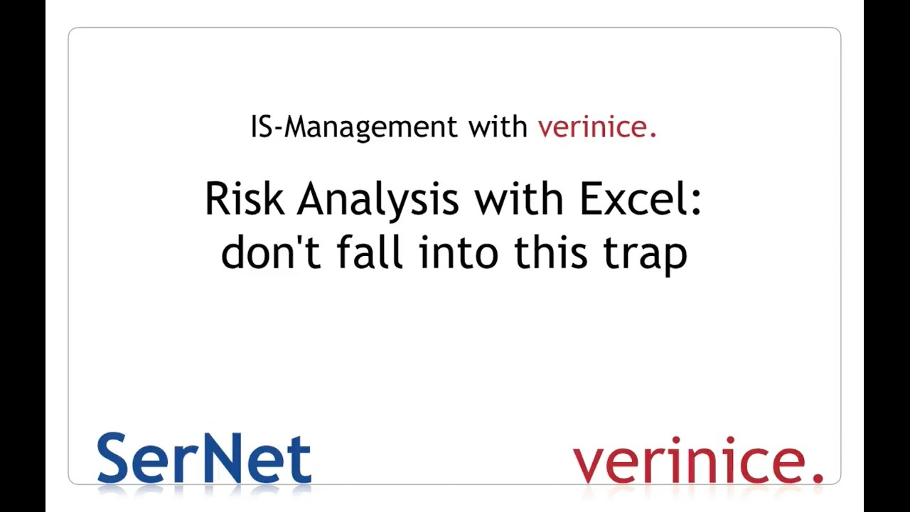 Risk Analysis with Excel: Don\'t fall into this trap! - YouTube